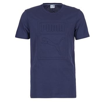 textil Hombre camisetas manga corta Puma ARCHIVE EMBOSSED LOGO TEE Marino