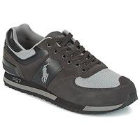 Zapatos Hombre Zapatillas bajas Ralph Lauren SLATON PONY Negro / Gris