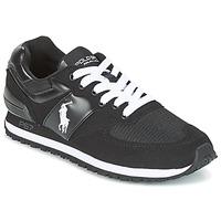 Zapatos Hombre Zapatillas bajas Ralph Lauren SLATON PONY Negro
