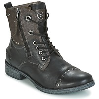 Zapatos Mujer Botas de caña baja Bugatti PIERA Negro / Gris