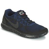 Zapatos Mujer Running / trail Nike FREE RUN 2017 SHIELD Negro / Azul