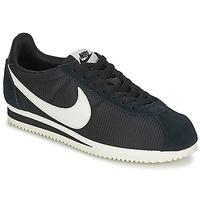 Zapatos Mujer Zapatillas bajas Nike CLASSIC CORTEZ NYLON W Negro / Blanco