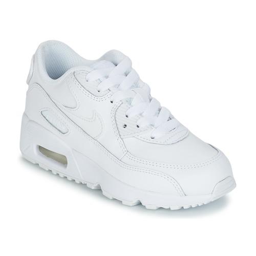 Zapatos Niños Zapatillas bajas Nike AIR MAX 90 LEATHER PRE-SCHOOL Blanco