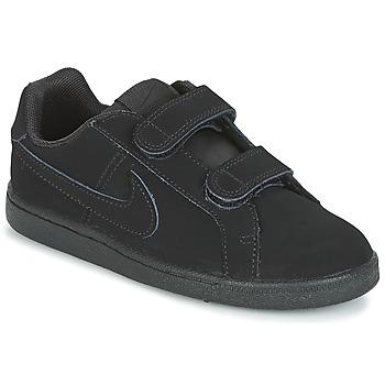 Zapatos Niño Zapatillas bajas Nike COURT ROYALE PRE-SCHOOL Negro