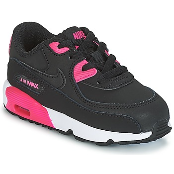 Zapatos Niña Zapatillas bajas Nike AIR MAX 90 LEATHER TODDLER Negro / Rosa