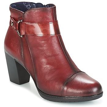 Zapatos Mujer Botines Dorking EVELYNE Rojo