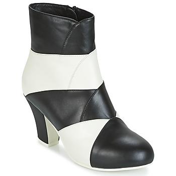 Zapatos Mujer Botines Lola Ramona ELSA Blanco / Negro