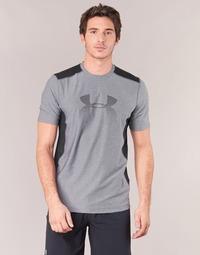 textil Hombre camisetas manga corta Under Armour UA RAID GRAPHIC SS Gris / Negro