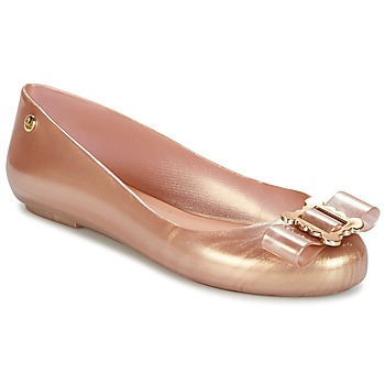 Zapatos Mujer Bailarinas-manoletinas Melissa VW SPACE LOVE 18 ROSE GOLD BUCKLE Rosa / Gold