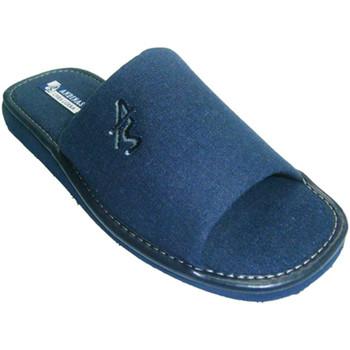 Zapatos Hombre Pantuflas Andinas Chanclas de caballero puntera abierta azul