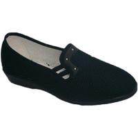 Zapatos Mujer Pantuflas Calzacomodo Zapatilla tela de rejilla con cuña media azul