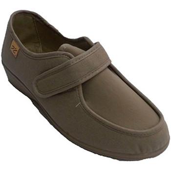 Zapatos Mujer Zapatillas bajas Doctor Cutillas Zapatillas velcro muy anchas pies muy de beige