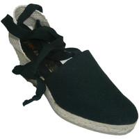 Zapatos Mujer Pantuflas Andinas Zapatillas valencianas atadas a la piern negro
