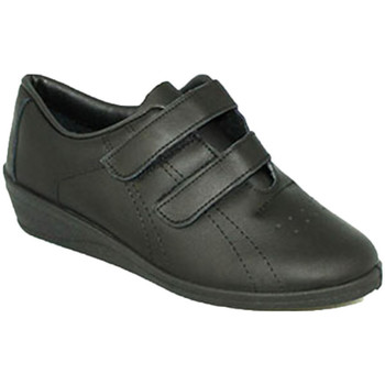 Zapatos Mujer Multideporte Made In Spain 1940 Deportivas mujer con cuña velcro negro