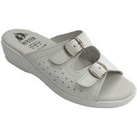 Zapatos Mujer Sandalias Muñoz Y Tercero Chanclas mujer anatómicas con dos hebilla planta muy blanda blanco