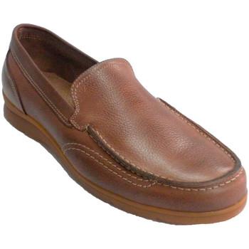 Zapatos Hombre Mocasín Pitillos Mocasín hombre verano con puntadas marrón