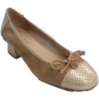 Zapatos Mujer Zapatos de tacón Roldán Zapato mujer tacón bajo combinado nobú y serpierte beige