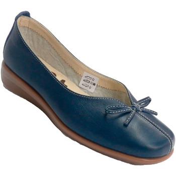 Zapatos Mujer Mocasín 48 Horas Zapato mujer cuña baja tipo manoletina abertura en empeine con l azul