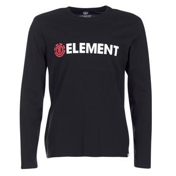textil Hombre Camisetas manga larga Element BLAZIN LS Negro
