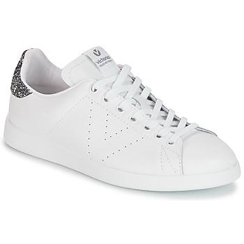 Zapatos Mujer Zapatillas bajas Victoria DEPORTIVO BASKET PIEL Blanco / Gris