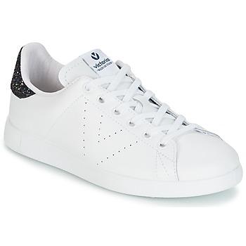 Zapatos Mujer Zapatillas bajas Victoria DEPORTIVO BASKET PIEL Blanco / Azul