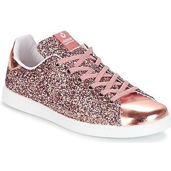 Zapatos Mujer Zapatillas bajas Victoria DEPORTIVO BASKET GLITTER Rosa