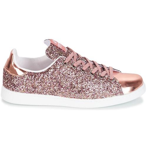 Rosa Deportivo Zapatos Victoria Basket Glitter Mujer Zapatillas Bajas UpGSqzMV