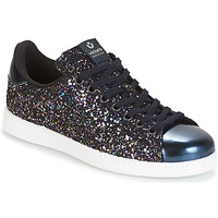 Zapatos Mujer Zapatillas bajas Victoria DEPORTIVO BASKET GLITTER Marino