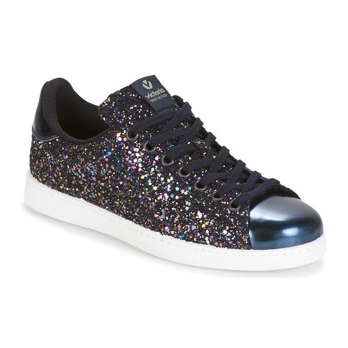 Cómodo y bien parecido Victoria DEPORTIVO BASKET GLITTER Marino - Envío gratis Nueva promoción - Zapatos Deportivas bajas Mujer  Marino