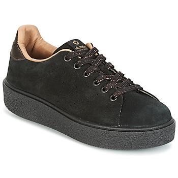 Zapatos Mujer Zapatillas bajas Victoria DEPORTIVO SERRAJE P. NEGRO Negro