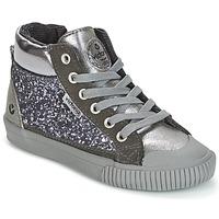 Zapatos Niña Zapatillas altas Victoria BOTA PIEL PU/GLITTER Plata