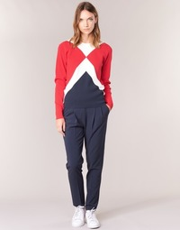 textil Mujer pantalones con 5 bolsillos Tommy Hilfiger LIBBY PULL ON PANT Marino