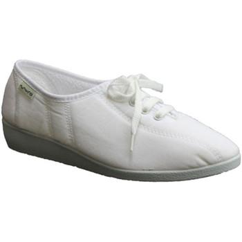 Zapatos Mujer Pantuflas Muro Zapatillas cordones cuña blanco