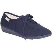 Zapatos Mujer Zapatillas bajas Muro Zapatillas cordones cuña azul