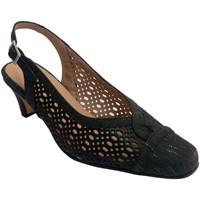 Zapatos Mujer Sandalias Trebede Zapato rejilla de vestir mujer abierto atrás negro