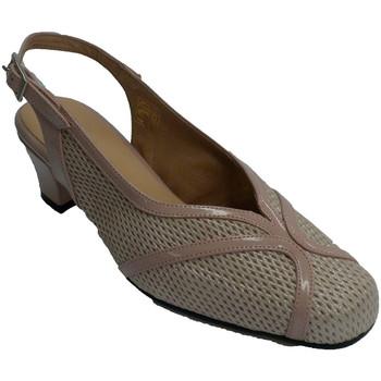 Zapatos Mujer Zapatos de tacón Trebede Zapato vestir mujer talón abierto beige