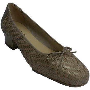 Zapatos Mujer Zapatos de tacón Roldán Zapato vestir mujer tipo manoletinas trenzado oro