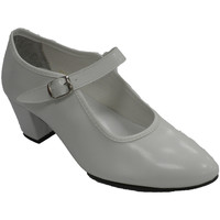 Zapatos Mujer Bailarinas-manoletinas Danka Zapato baile sevillanas flamenco para niña o mujer blanco