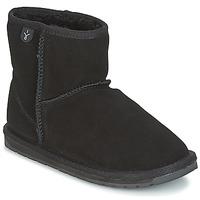 Zapatos Niños Botas de caña baja EMU WALLABY MINI Negro