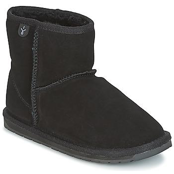 Zapatos Niña Botas de caña baja EMU WALLABY MINI Negro