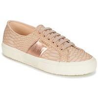 Zapatos Mujer Zapatillas bajas Superga 2750 PU SNAKE W Nude