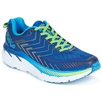 Zapatos Hombre Running / trail Hoka one one CLIFTON 4 Azul / Verde