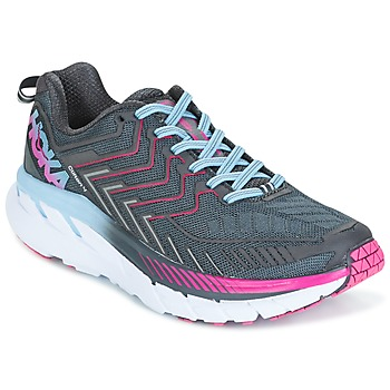 Zapatos Mujer Running / trail Hoka one one CLIFTON 4 Gris
