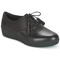 Zapatos Mujer Derbie FitFlop CLASSIC TASSEL SUPEROXFORD Negro / Serpiente