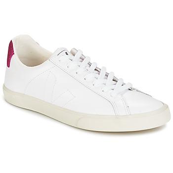 Zapatos Mujer Zapatillas bajas Veja ESPLAR LT Blanco / Brillantina / Magenta