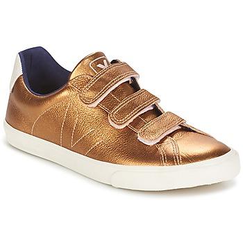Zapatos Mujer Zapatillas bajas Veja 3 LOCK ámbar