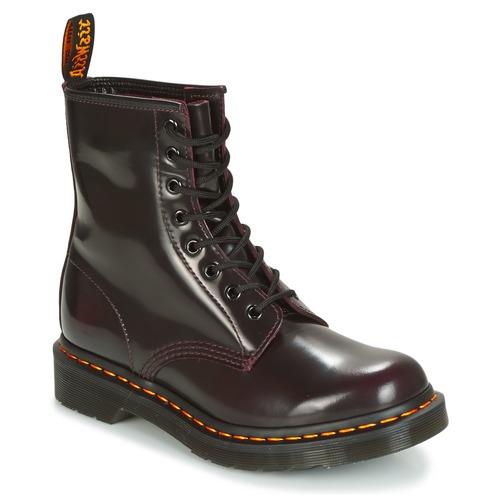 Zapatos Mujer Botas de caña baja Dr Martens 1460 Rojo / Cereza