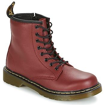 Zapatos Niños Botas de caña baja Dr Martens DELANEY Rojo / Cereza