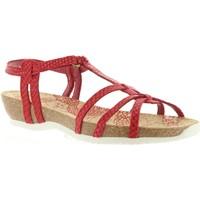 Zapatos Mujer Sandalias Panama Jack DORI RUN B5 Rojo
