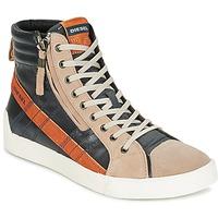 Zapatos Hombre Zapatillas altas Diesel D-STRING PLUS Antracita / Camel